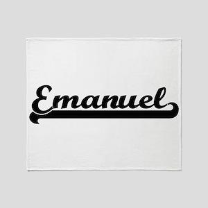 Emanuel Classic Retro Name Design Throw Blanket