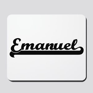 Emanuel Classic Retro Name Design Mousepad