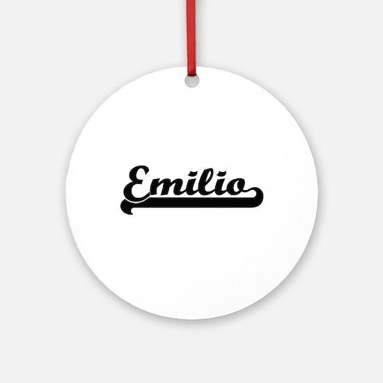 Emilio Classic Retro Name Design Ornament (Round)