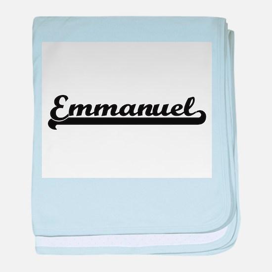 Emmanuel Classic Retro Name Design baby blanket