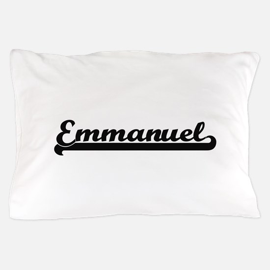 Emmanuel Classic Retro Name Design Pillow Case