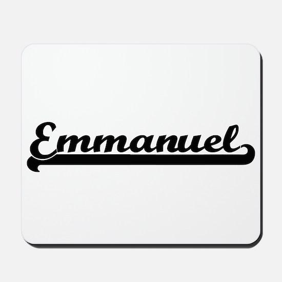 Emmanuel Classic Retro Name Design Mousepad