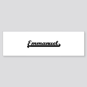 Emmanuel Classic Retro Name Design Bumper Sticker