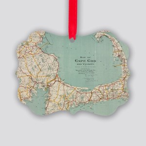 Vintage Map of Cape Cod (1917) Picture Ornament
