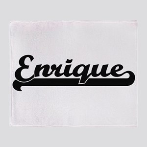 Enrique Classic Retro Name Design Throw Blanket