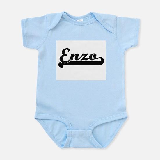 Enzo Classic Retro Name Design Body Suit