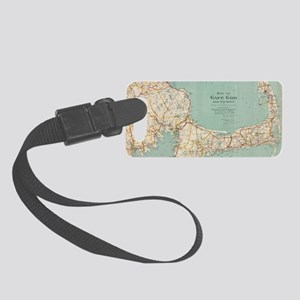 Vintage Map of Cape Cod (1917) Small Luggage Tag
