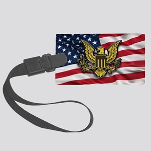 Great seal of the USA with Ameri Large Luggage Tag