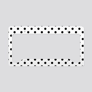 Girls just wanna have dots License Plate Holder