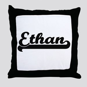 Ethan Classic Retro Name Design Throw Pillow