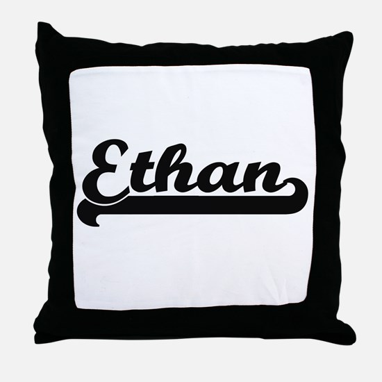Ethan Classic Retro Name Design Throw Pillow