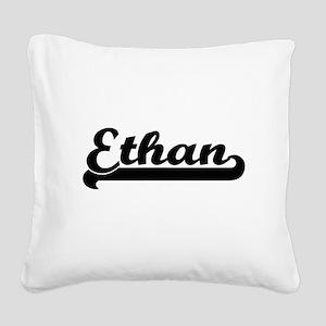 Ethan Classic Retro Name Desi Square Canvas Pillow
