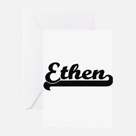 Ethen Classic Retro Name Design Greeting Cards