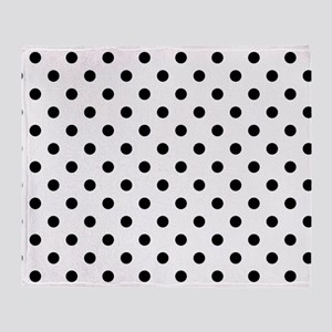 Girls just wanna have dots Throw Blanket