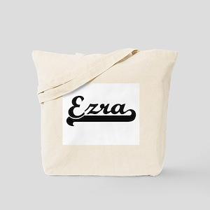 Ezra Classic Retro Name Design Tote Bag