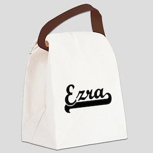 Ezra Classic Retro Name Design Canvas Lunch Bag