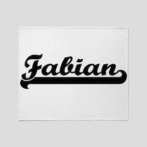 Fabian Classic Retro Name Design Throw Blanket