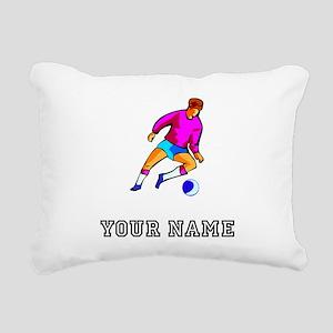 Cartoon Soccer Player (Custom) Rectangular Canvas