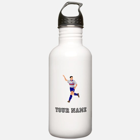 Soccer Player (Custom) Water Bottle