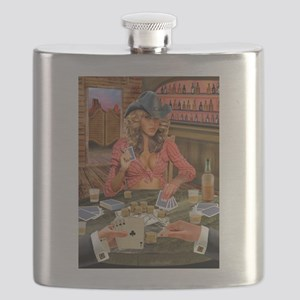 Gamblin' Cowgirl Flask