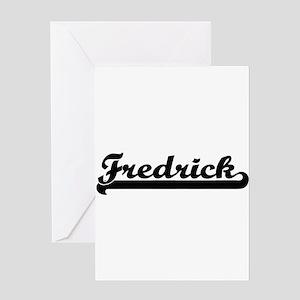 Fredrick Classic Retro Name Design Greeting Cards