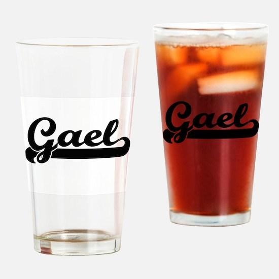Gael Classic Retro Name Design Drinking Glass