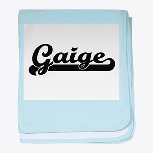 Gaige Classic Retro Name Design baby blanket