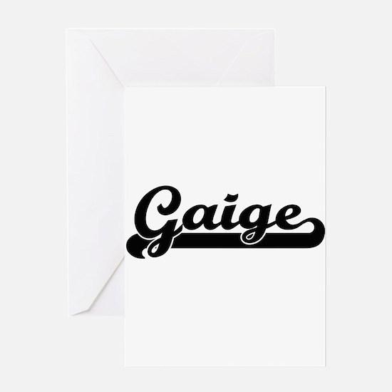 Gaige Classic Retro Name Design Greeting Cards