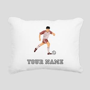 Soccer Player (Custom) Rectangular Canvas Pillow