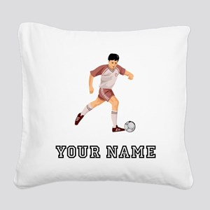 Soccer Player (Custom) Square Canvas Pillow