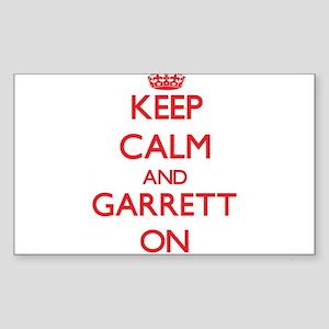 Keep Calm and Garrett ON Sticker