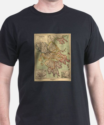 Vintage Map of Greece (1903) T-Shirt