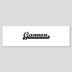 Gannon Classic Retro Name Design Bumper Sticker