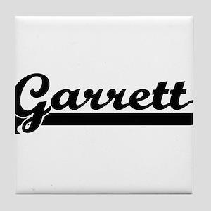 Garrett Classic Retro Name Design Tile Coaster