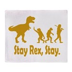 Stay Rex Stay Throw Blanket