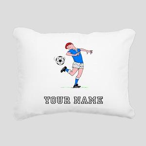 Soccer Kid (Custom) Rectangular Canvas Pillow