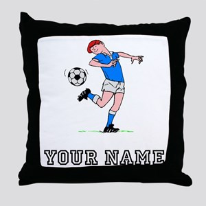 Soccer Kid (Custom) Throw Pillow