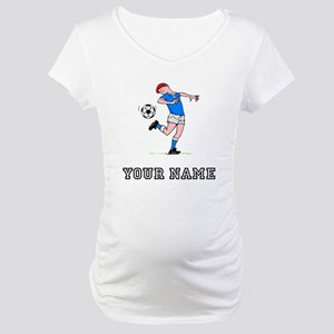 Soccer Kid (Custom) Maternity T-Shirt