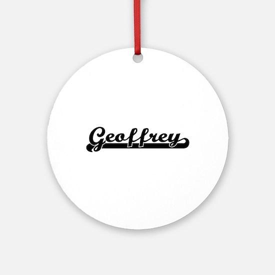 Geoffrey Classic Retro Name Desig Ornament (Round)