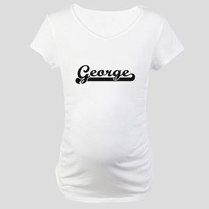 George Classic Retro Name Design Maternity T-Shirt