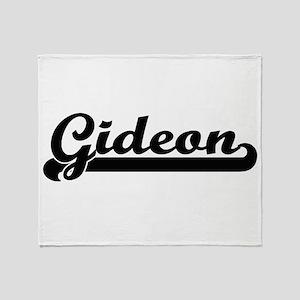 Gideon Classic Retro Name Design Throw Blanket