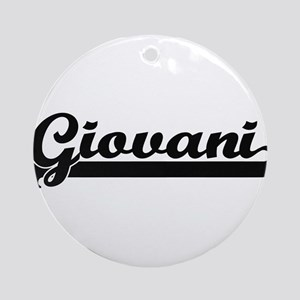 Giovani Classic Retro Name Design Ornament (Round)