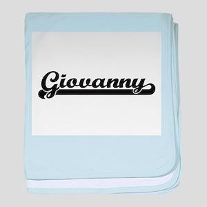 Giovanny Classic Retro Name Design baby blanket