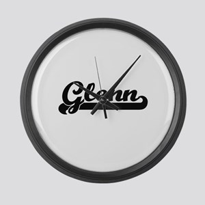 Glenn Classic Retro Name Design Large Wall Clock