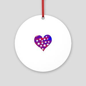 HeartFlag Round Ornament