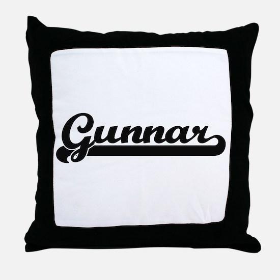 Gunnar Classic Retro Name Design Throw Pillow