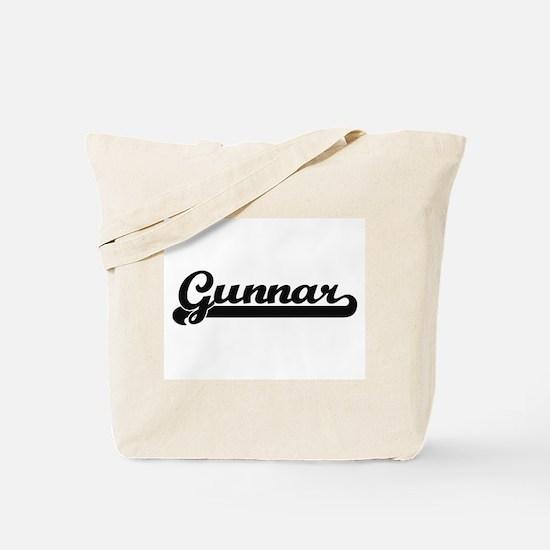 Gunnar Classic Retro Name Design Tote Bag