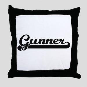 Gunner Classic Retro Name Design Throw Pillow