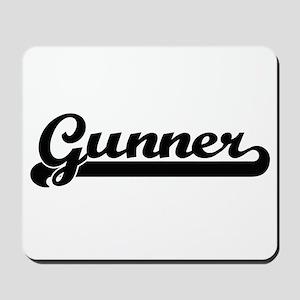 Gunner Classic Retro Name Design Mousepad