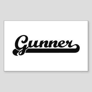 Gunner Classic Retro Name Design Sticker